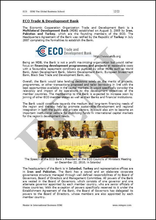 Eco economic corporation organisation